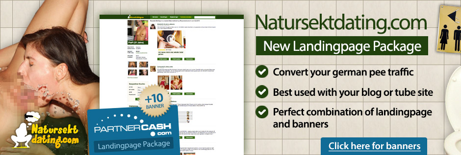 Landingpage and Bannersets for Natursektdating.com