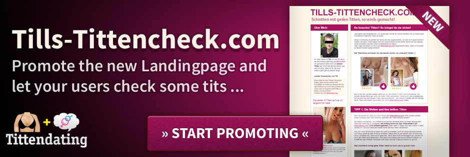 Landingpage for your boobs-user